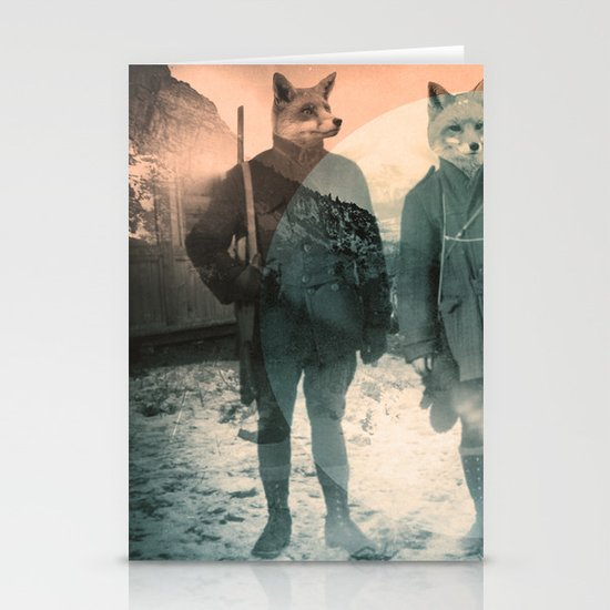 Fox Hunt Stationery Card