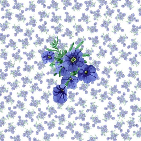 Violet Flowers Pattern 02 Art Print