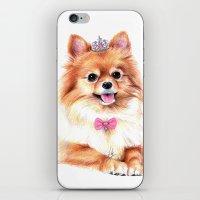 Pomeranian Princess iPhone & iPod Skin