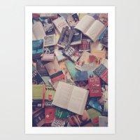 Book Mania! (2) Art Print