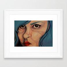 All Angsty Teens Dye Their Hair Blue  Framed Art Print