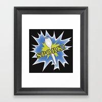 Spork! Framed Art Print