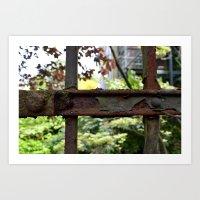 Rusty fence in Amsterdam Art Print
