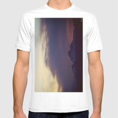 Twilight White Mens Fitted Tee SMALL
