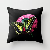 Watercolor Butterfly Throw Pillow