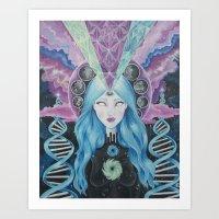 Dimensions of Nebular Awareness Art Print