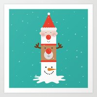 Day 11/25 Advent - Holid… Art Print
