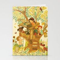 house Stationery Cards featuring Our House In the Woods by Teagan White