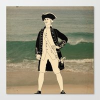 Great explorers - Captain James Cook Canvas Print