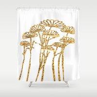 PAPERCUT FLOWER 2 Shower Curtain