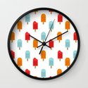 Ice Lollies Pattern Wall Clock