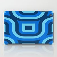 Blue Truchet Pattern iPad Case