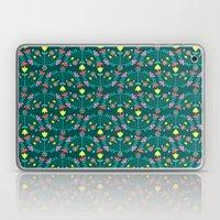 Folk Flowers Green Laptop & iPad Skin