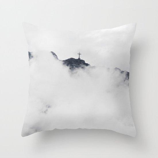 Foggy Faith Throw Pillow