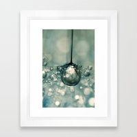 Sea Grey Drop Framed Art Print