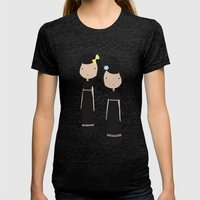 Meredith and Delany: Vampire Twins Womens Fitted Tee Tri-Black SMALL