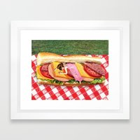 OUT TO LUNCH Framed Art Print