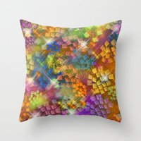 Stained Glass look Series 4 Throw Pillow