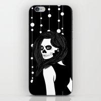 Lady Skull Garland iPhone & iPod Skin