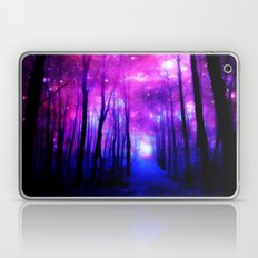 Magical Forest Path Fuchsia Purple Blue Laptop & iPad Skin