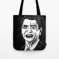 40. Zombie Ronald Reagan Tote Bag