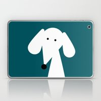 White Dachshund - Turquo… Laptop & iPad Skin
