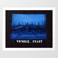Venice Italy Gondolas Art Print