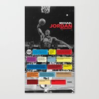Michael Jordan's Spor Career. Canvas Print