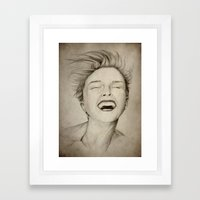 Laughing Girl Framed Art Print