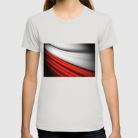 Flag Of Poland Womens Fitted Tee Silver SMALL