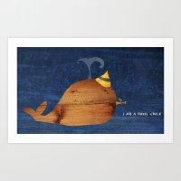 i am a happy whale Art Print