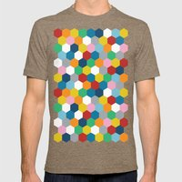 Honeycomb 3 Mens Fitted Tee Tri-Coffee SMALL