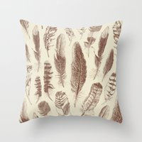 Study of Flight Throw Pillow