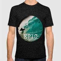 EPIC WAVE  Mens Fitted Tee Tri-Black SMALL