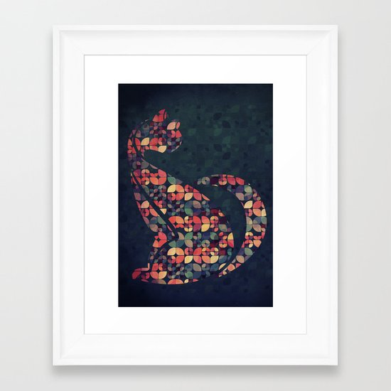 The Pattern Cat Framed Art Print