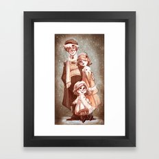 Sepia Snow Framed Art Print
