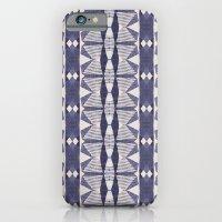 Navy And Cream Geometry iPhone 6 Slim Case