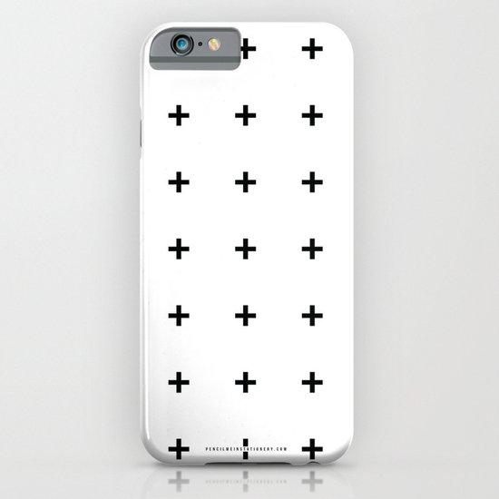 Black Plus on White /// www.pencilmeinstationery.com iPhone & iPod Case