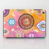 Bohemian Mandala elephant (bright) iPad Case