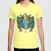 Gibson Coat of Arms and Tartan Womens Fitted Tee Lemon SMALL