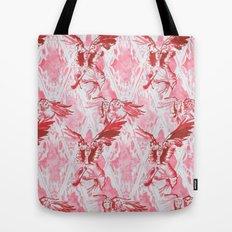 Guardian Angel (Red) Tote Bag