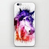 Watercolor Horse iPhone & iPod Skin