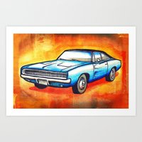 '68 Charger Art Print