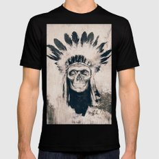 INDIAN SKULL SMALL Mens Fitted Tee Black