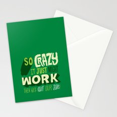 Quit Our Jobs Stationery Cards