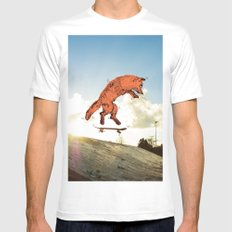 Skateboard FOX! Mens Fitted Tee White SMALL