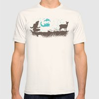 The Werewolf of Saddle Creek Mens Fitted Tee Natural SMALL