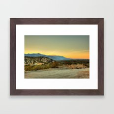 Saturday's Sunet Framed Art Print