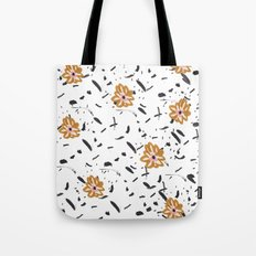 Daisy. Illustration, flowers, print, design, pattern, floral, fashion, drawing, Tote Bag