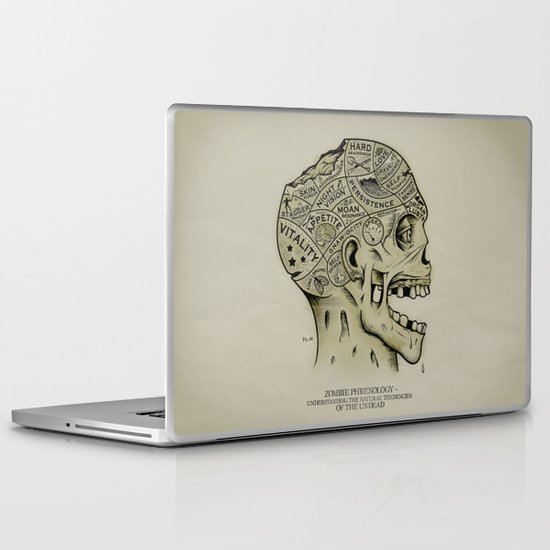 Zombie Phrenology Laptop & iPad Skin